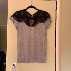 Lucca Couture T-shirt with lace